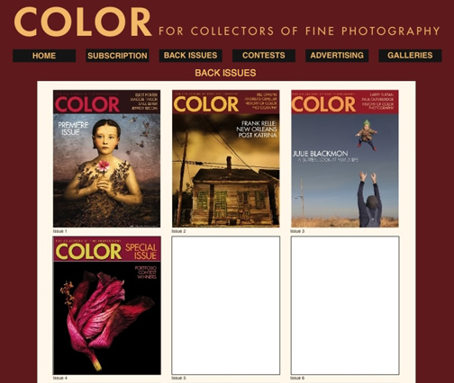 The first four issues of Color Magazine