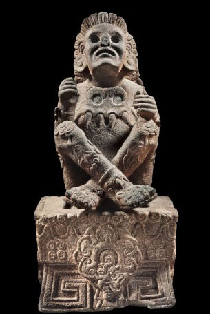 Xochipilli, patron god of the royal Aztec palace