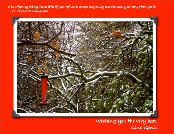 Gina Genis holiday card 2012