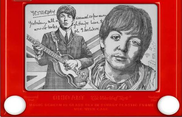 Etch A Sketch image of Paul McCartney