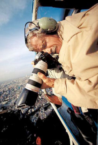 Yann Arthus-Bertrand at work