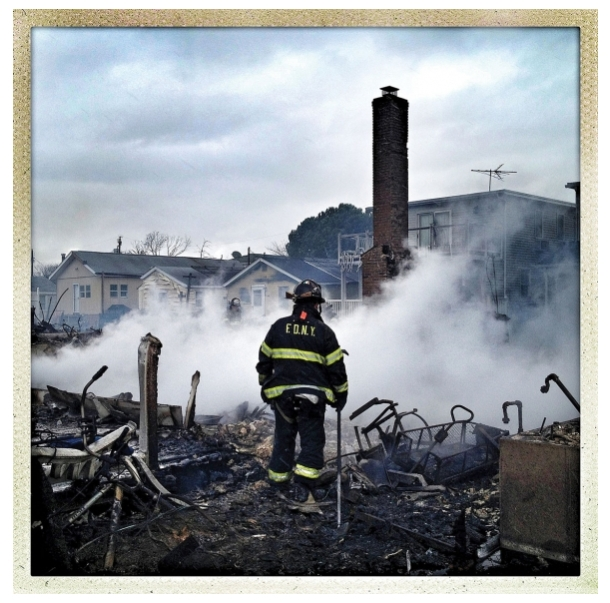 Benjamin Lowy's iPhone image of the destruction of Superstorm Sandy. © Benjamin Lowy/reportage by Getty Images