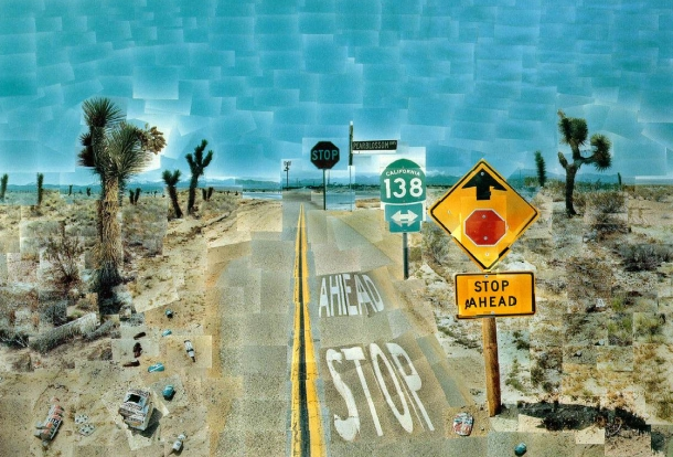 David Hockney collage photograph
