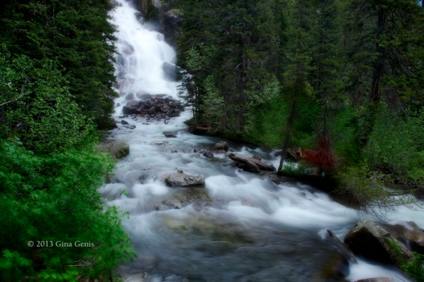 Grand Tetons River and Waterfall